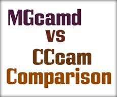 comparison CCcam MGcamd